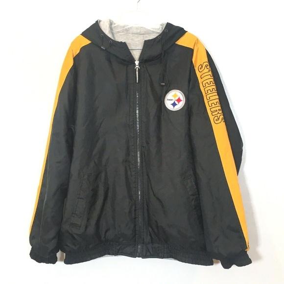 buy online db149 bf8ed Pittsburgh Steelers Reversible Jacket Vintage 90's